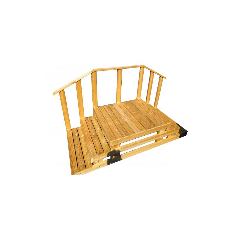 Luxe houten trap