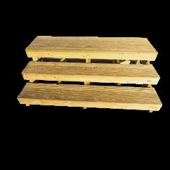 Holztreppe Duo Zweistufig